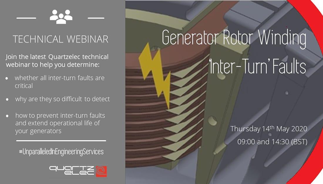 WEBINAR: Generator Rotor Winding 'Inter-Turn' Faults
