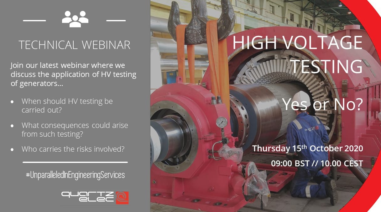 WEBINAR: High Voltage Tests: Yes or No?